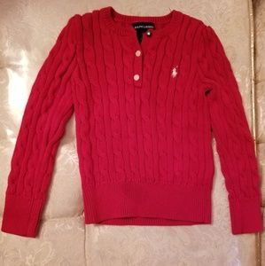 Ralph Lauren toddler girls Sweater sz 5